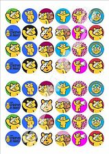 Children In Need Pudsey Bear PRE  CUT Fairy Cake Toppers x 48 PBPCM12