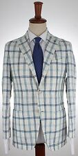NWT EIDOS by ISAIA BLAZER deconstructed linen white handmade Italy eu 48 us 38
