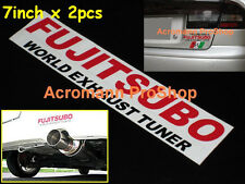 2x 7inch 17.8cm FUJITSUBO World Exhaust Decal Sticker Tuner JDM 350Z D1 subaru