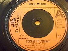 """MARIE MYRIAM - L'OISEAU ET L'ENFANT  7"""" VINYL"""