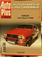 Fascicule Auto Plus la collection N° 108 Dacia 1410 sport 1989