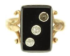 Ein Selten Onex & 3 Steine Rose Schliff Diamantring Rund 1930er