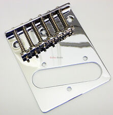 Genuine Fender SQUIER Standard Tele/Telecaster Top Loader Guitar Bridge - Chrome