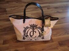 NWT Authentic Juicy Couture Tote Bag Pink Velour Crest Purse