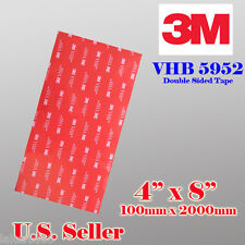 "3M 4"" x 8""   VHB Double Sided Foam Adhesive Tape 5952 Automotive Mounting I"