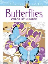 Butterflies Colour by Number Adult Colouring Book Creative Gift Butterfly Spring