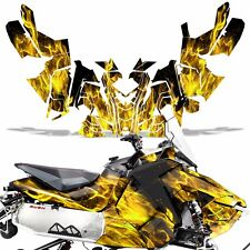 Sled Wrap for Polaris AXYS RUSH Pro S Graphic Snow Decal Kit Snowmobile ICE YLLW