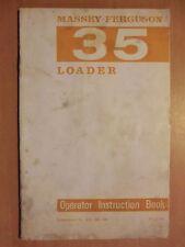 Handbuch Instruction Book parts list Ferguson 35 Loader FE35 MF 130 135 165 65