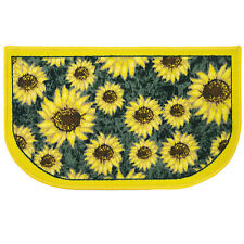 "Sunflower Yellow & Green Slice Polyester Kitchen Rug - 18"" x 30"""