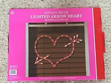 A New Valentine's Day 43 Light Red Heart and Arrow Lighted Silhouette Decoration