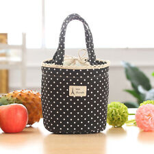 Hot Thermal Insulated Lunch Box Cooler Bag Tote Bento Pouch Lunch Container BK
