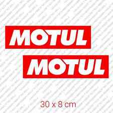 "2x MOTUL big car bumper sticker motor oil Honda 30 x 8 cm 11.8"" x 3.3"""