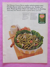 1968 Magazine Advertisement Page For Del-Monte Green Beans Salad Vintage Ad