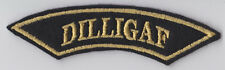 DILLIGAF SMALL ROCKER PATCH TRIKER BADGE
