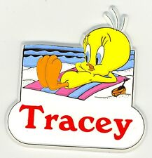 Tweety Bird Name Magnet ~ Tracey ~ Looney Tunes Collectible~ Stocking Stuffer