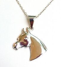 Funky 925 Sterling Silver Horse Head Pendant with 18 inch silver Necklace  P702