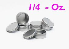 1/4 Oz Round Metal Tin Container for lip balm,crafts,storage,survival (10 Pack)