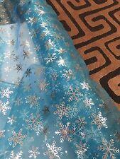 Copo De Nieve Frozen Elsa Brillo Organza Voile Confección Tela
