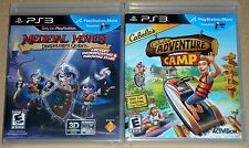 PS3 Game Lot - Cabela's Adventure Camp (New) Medieval Moves (New) PS Move
