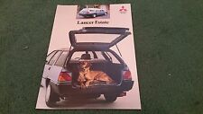 October 1988 / 1989 Model MITSUBISHI LANCER PETROL / DIESEL ESTATE - UK BROCHURE