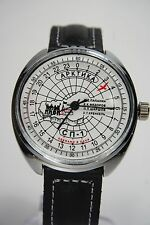 Russian mechanical watch RAKETA Arctica SP-1 24H. White dial. 39mm