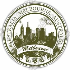 Melbourne Australia Country Stamp Car Bumper Vinyl Sticker Decal 4.6""