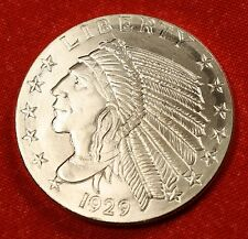 INCUSE INDIAN DESIGN 1/2 oz .999% SILVER ROUND BULLION COLLECTOR COIN GIFT