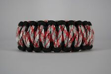 550 Paracord Survival Bracelet King Cobra Black/Red/Red Camo Camping Tactical