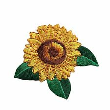 "Unotrim 2.25"" Sunflower Self Adhesive Embroidered Iron On Applique Sticker Patch"