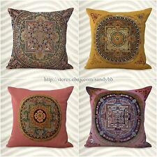 set of 4 decorative throw pillow case for couch mandala boho cushion covers