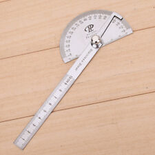 Round Angle Finder Ruler 180° Protractor Craftsman Ruler Stainless Steel Hot