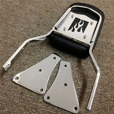Chrome Flame Backrest Sissy Bar With Leather Pad For 86-13 Kawasaki Vulcan 1500
