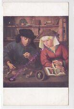 CP ART TABLEAUX QUENTIN METSYS Le banquier et sa femme