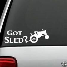 A1172 Antique Tractor Pull Sled Decal Sticker for Car Truck SUV Van Classic Barn