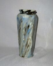 "WELLERS, 13 1/2""  VASE, ANTIQUE, BLUE AND BROWN SWIRL, EXCELLENT"