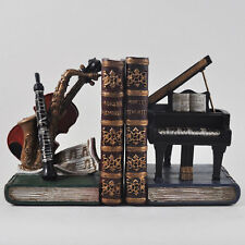 Classical Musical Instruments Bookends Shelf Tidy CD DVD Books Shelves 12502