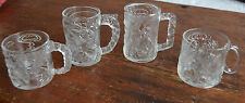 4 Vintage 1995 BATMAN FOREVER ROBIN TWO FACE RIDDLER GLASS MUG France McDONALDS