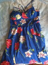 NWT American eagle Outfitters Dress XL XLarge Floral Summer Blue