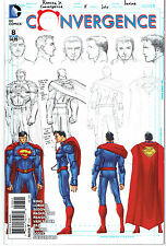 CONVERGENCE #8 SUPERMAN SKETCH 1:100 INCENTIVE VARIANT COVER