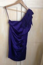 Next Miss N Purple/ Blue Of The Shoulder Ruffle Dress Size 12