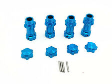 HSP 1/8 Alufelge Hex 17mm Länge 30mm 89108 Enhanced-Teile 4PCS  (Blau)