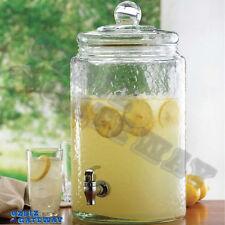 10 Litre Glass Drink Beverage Jars Dispenser with Tap  Lid  41 x 21CM  10L