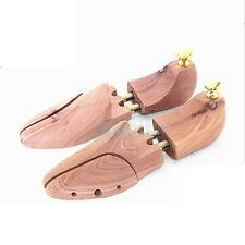 Pair Mens Cedar Wood Shoe Tree Stretcher Shaper Keeper Adjustable US Size 11-12