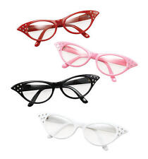 White Glasses Grease Pink Ladies 1950S Rock N Roll Fancy Dress
