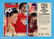 TOP990-PUBBLICITA'/ADVERTISING-1990- PAVESI - RINGO 90 -2 fogli