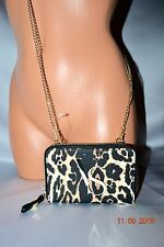 Victorias Secret Leopard Cross Body Purse Wallet Clutch Iphone Cell Case Bag NWT