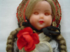 """Vintage1950's Doll switzerland St Gallen Character Doll 7.3/4"""" Tall. With Lace"""