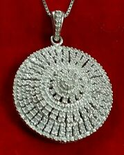 *SALE RARE HUGE PLATINUM STERLING SILVER  227 DIAMOND COCKTAIL CLUSTER NECKLACE