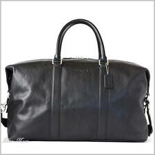 Coach Mens 54802 (93469) XL Black Leather Voyager 52 travel duffle carryon bag