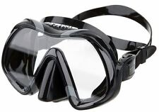 Atomic Aquatics Venom Scuba Dive Mask with Schott Ultra Clear Glass- BLACK BLACK